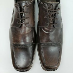 Bacco Bucci *Size 15W* Brown Leather Oxfords